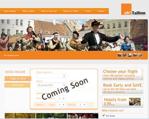 ... of the portal focused on promoting tourism to Tallinn, Estonia.