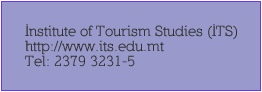 Institute for Tourism Studies