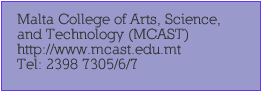 Malta College of Arts Science and Technology MCAST