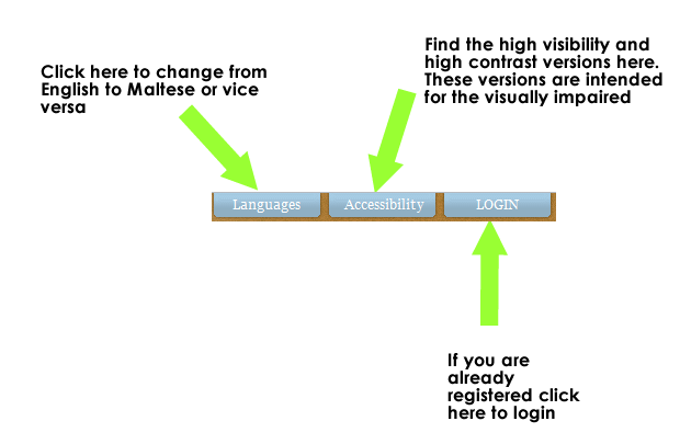 language accessibility menu