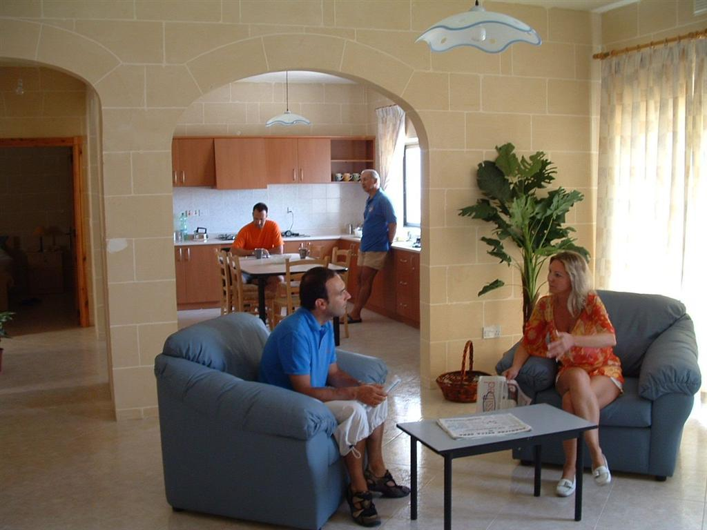 IELS Gozo accommodation - Migiarro Residence - students in common area