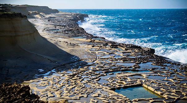 Salt Pans in Marsalforn