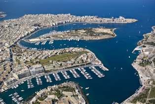 Valletta and Sliema harbour view