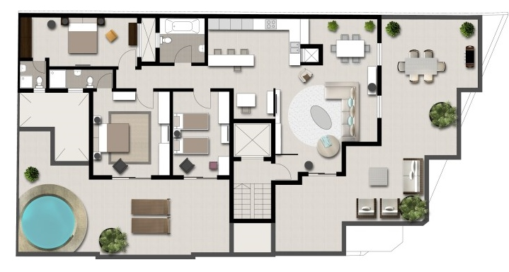 City apartment floorplan icon laurels bangalore residential property floorplan studio - Lay outs penthouse ...