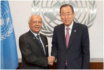 Qazi Shaukat Fareed, new Permanent Observer for PAM to the United Nations