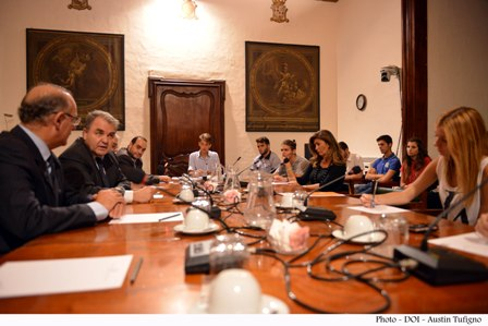 STUDENTS AT PAM INTERNSHIP  VISIT THE SPEAKER OF THE HOUSE OF REPRESENTATIVES OF MALTA