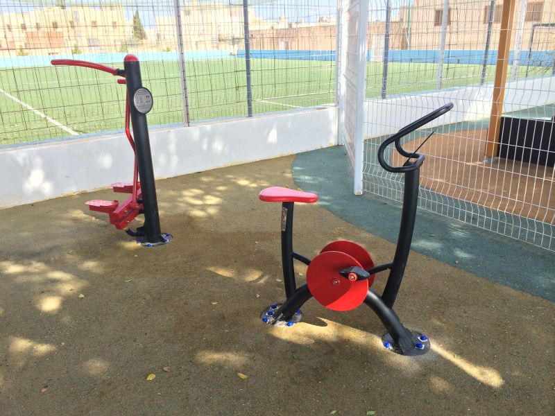 Supply and installation of outdoor gym equipment