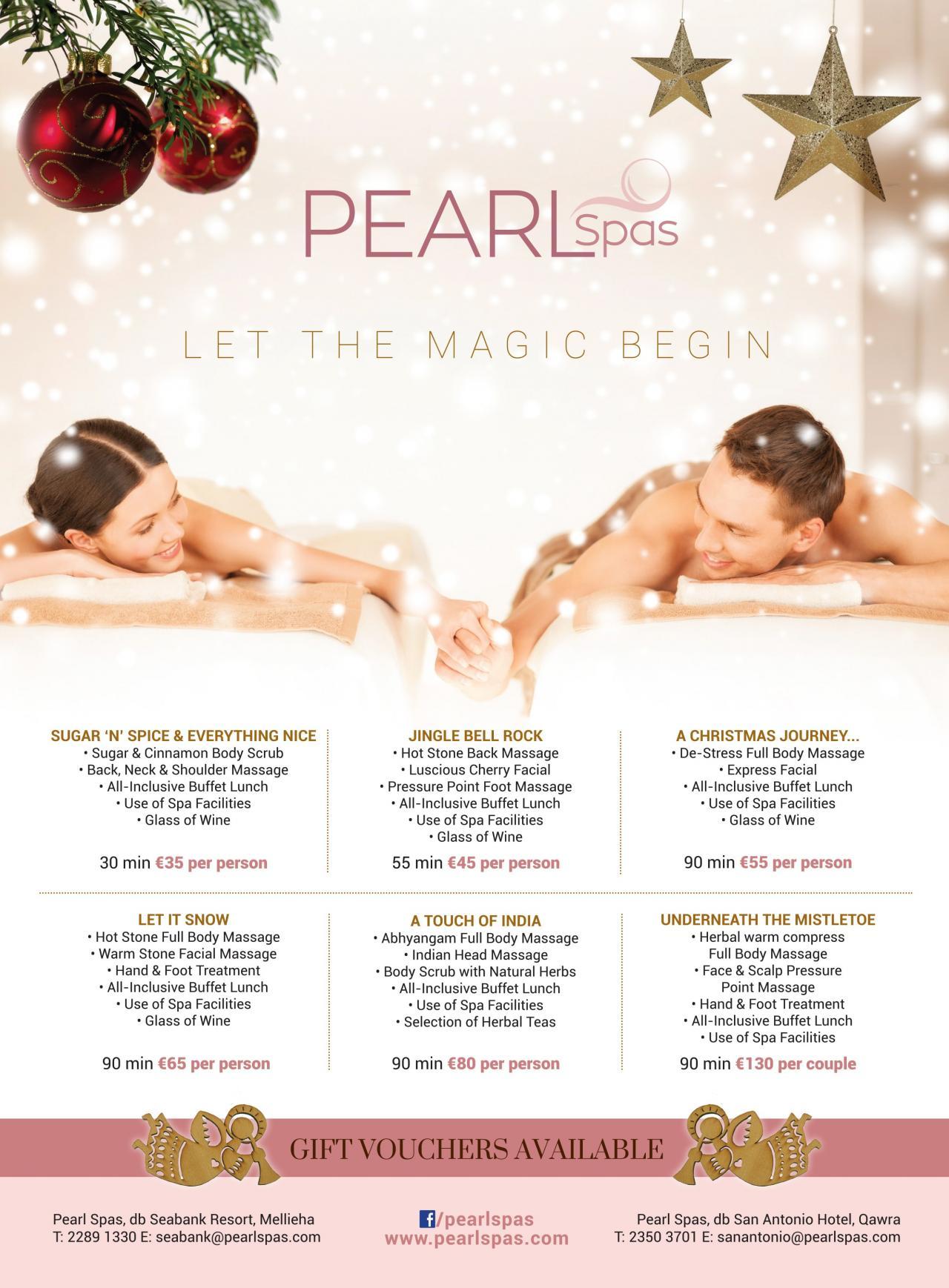 Christmas Spa Packages.Let The Magic Begin At Pearl Spas Db San Antonio Hotel