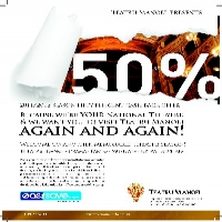 50% Cash BACK on your tickets