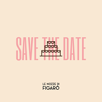Save the date for a wedding